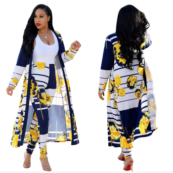 Women Two Piece Set Female Long Sleeve Dress Smock Cloak Cape Coat +Long Pants Legging  Ladies Outfit Femme Suit