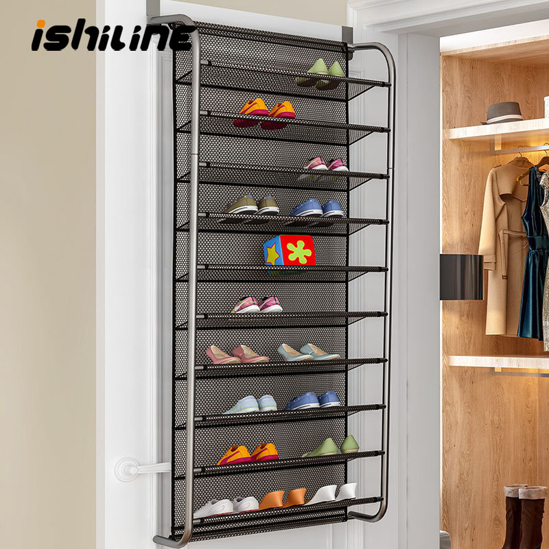 Simple Door Rear Shoe Rack Multi Layer Household Wall Mounted Shoe Cabinet Small Shoe Rack Saves