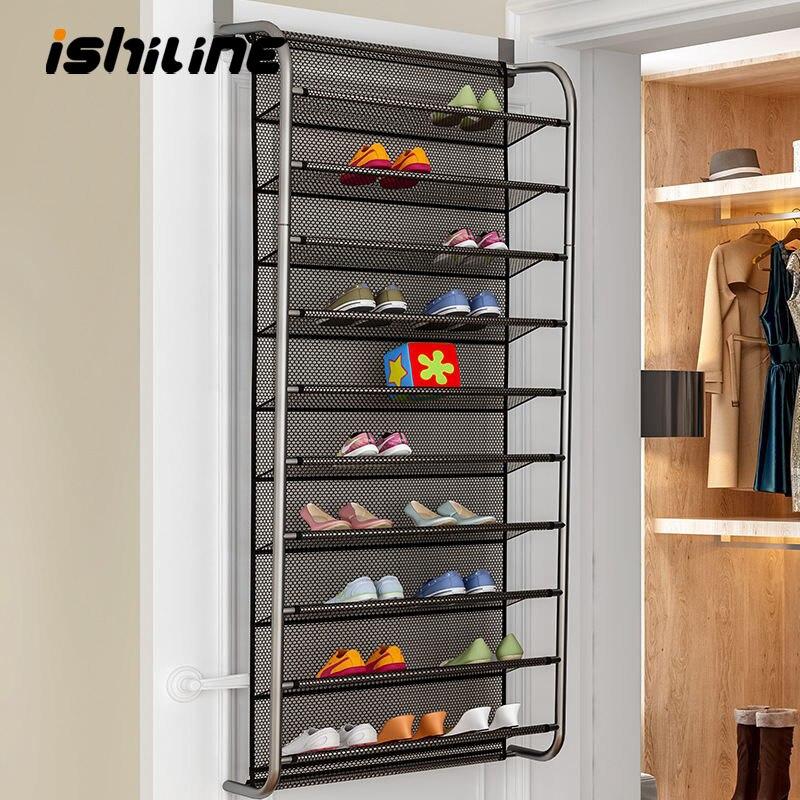 Porta simples traseiro sapato rack multi-camada doméstico wall-mounted sapato armário pequena sapato rack economiza espaço