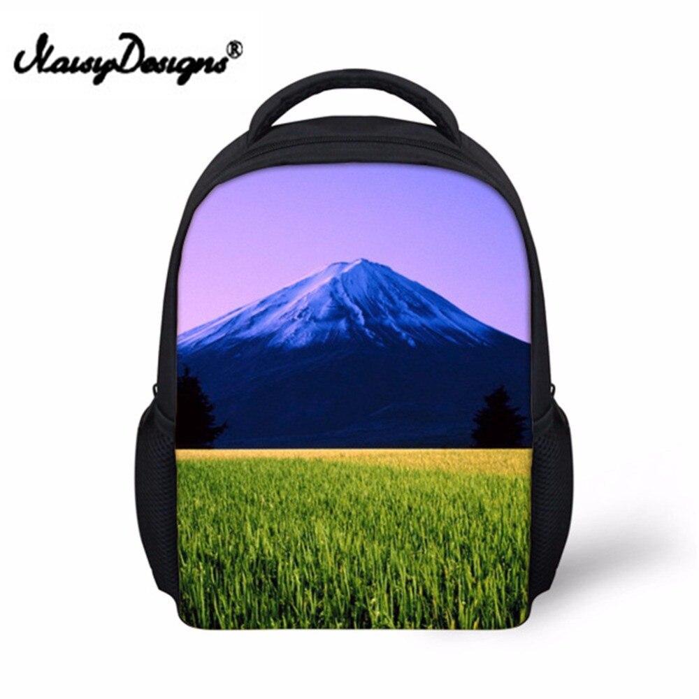 Noisydesigns Nature Landscape pattern Backpack for Toddler Kids Pretty Little Girls School Bagpack Preppy Child Baby Bookbag