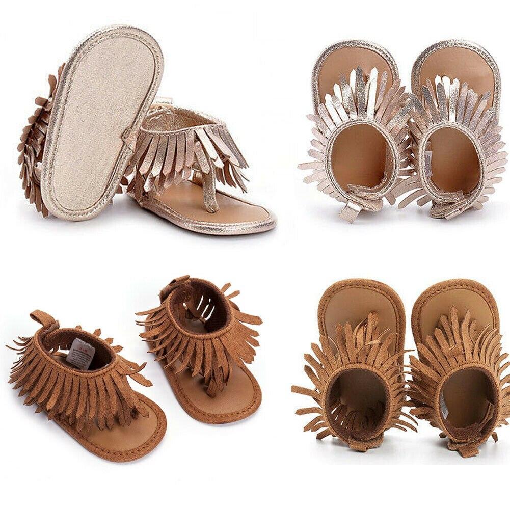Hot Fashion 0-12M Newborn Infant Baby Girls Shoes Tassel Prewalker Summer Pinch Fringed Taseel Sandals Casual