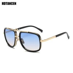 HDTANCEN جديد أزياء كبير إطار النظارات الشمسية الرجال مربع الأزياء نظارات للنساء عالية الجودة الرجعية نظارات شمسية خمر
