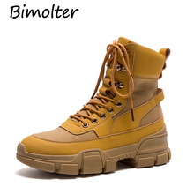 Bimolter 2018 Fashion Cross-tied Women Ankle Boots Lace Up Platform Motorcycle Wedges Sneakers Shoes Autumn LAEB058