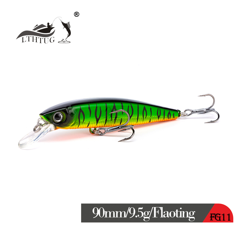 2019 New Japan Design Pesca Peche Leurre Fishing Wobbler Floating Minnow Fishing Lure 90mm 9.5g Hard Artificial Bait Pike Bass
