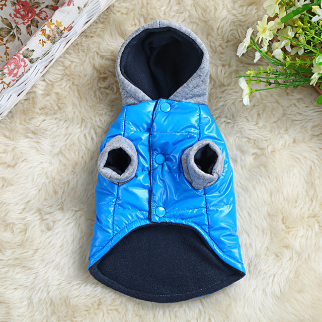 Warm Winter Pet Dog Clothes For Small Dogs Thicken PU Waterproof Puppy Coat Jacket Teddy Chihuahua Hoodies Apparel Costumes 8-10