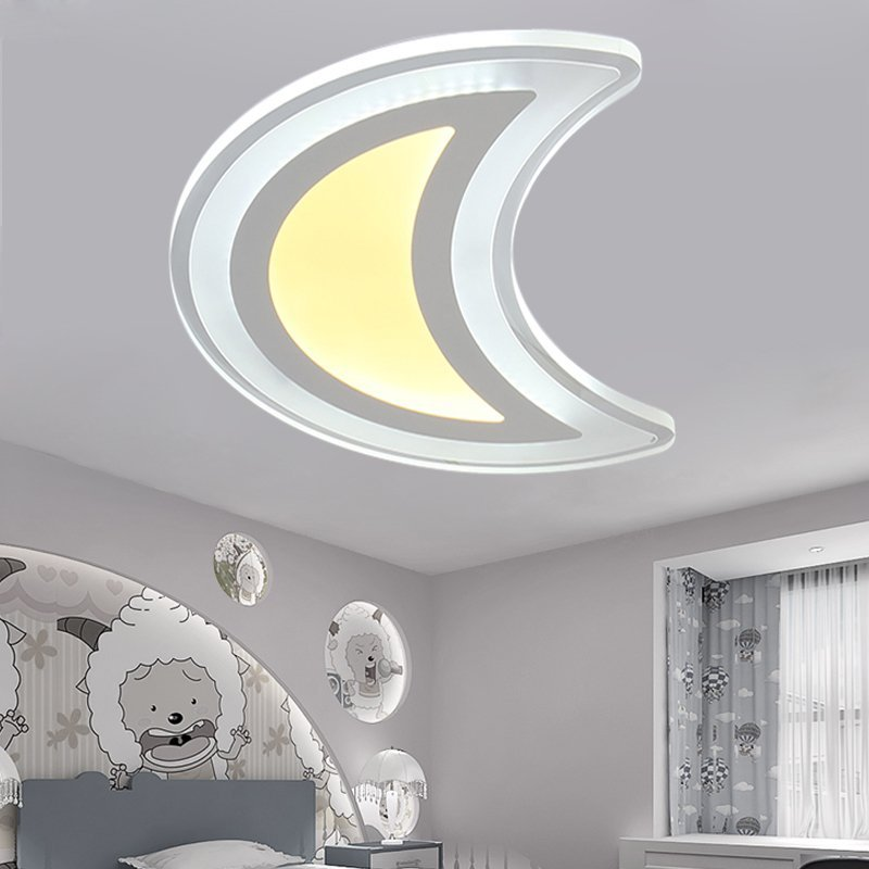 Kinder lampe led schlafzimmer licht drei farbe variable ...