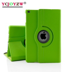 Case For New iPad 9.7 inch 2017 2018 ,For ipad Air/Air 2, lichee grain 360 degree rotate Full Body Protective Cover Flip-YCJOYZW