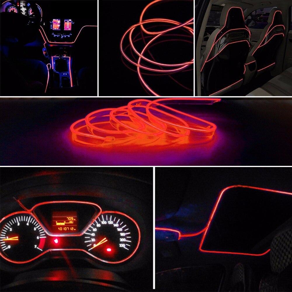 3m EL Car Stickers Neon Light Decor Auto Light Neon LED lamp