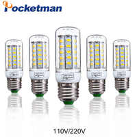 1 Uds E27 E14 bombilla LED de maíz 220V 110V SMD5730 foco de lámpara LED 24LED 36 LEDs, 48 LEDs, 56 LEDs, 69LEDs para luz led envío gratis
