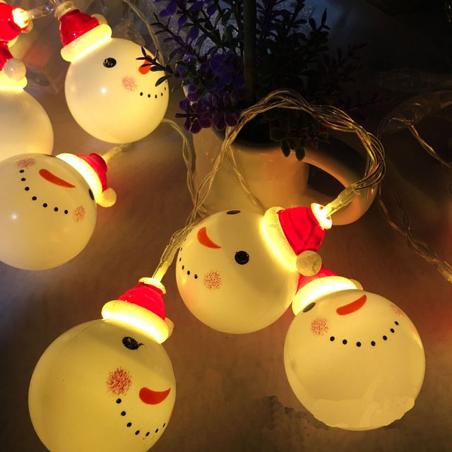 10 LED Warm White String Fairy Lights Party Christmas Decor Outdoor Indoor DIY Decorations