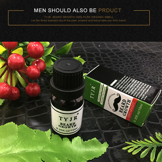 Men Beard Oil 10mL Fast Growth Moisturizing Facial Treatment Eyelashes Care Nourishment Men Beard Care Essence Liquid 1