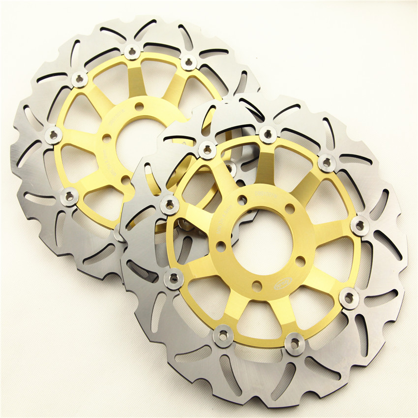 Front Brake Disc Rotors For Suzuki GSF 600 S Bandit 2000-2003 GSF 600 Y/K Naked Bandit 2000-2004 Moto Accessories Gold