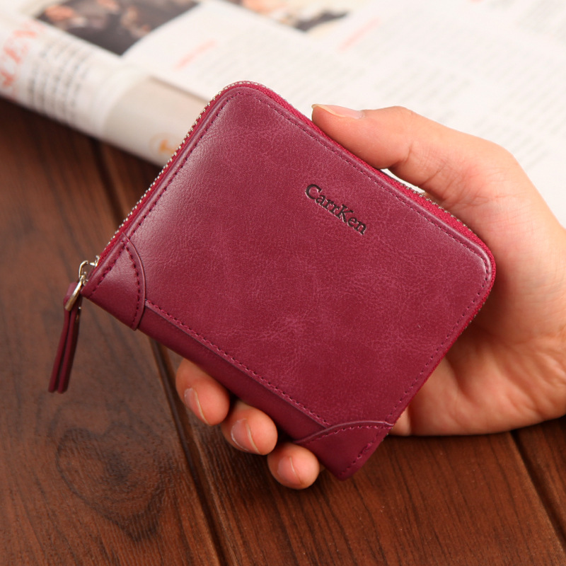 New brand women wallet vintage small short clutch card purse Fashion Sweetheart Purse for female zipper wallet with coin pocket Women Women's Bags Women's Wallets cb5feb1b7314637725a2e7: Brown|Burgundy|Coffee|black|gray|Pink|Sky Blue