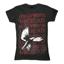 Hot Sale 2016 New Puck Rock Music Love Fashion 2014 Spring autumn hollywood undead bird repeat heavy metal t-shirt