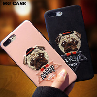 Funny Embroidered Cool Dog TPU Phone Case For Apple Iphone 6 6S 6 6SPlus Embroidered Dog