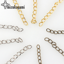 Free Shipping 100pcs/lot 5MM Jewelry Chains/Tail Extender Bronze/Gold/ For DIY Jewelry Bracelet Accessories Findings