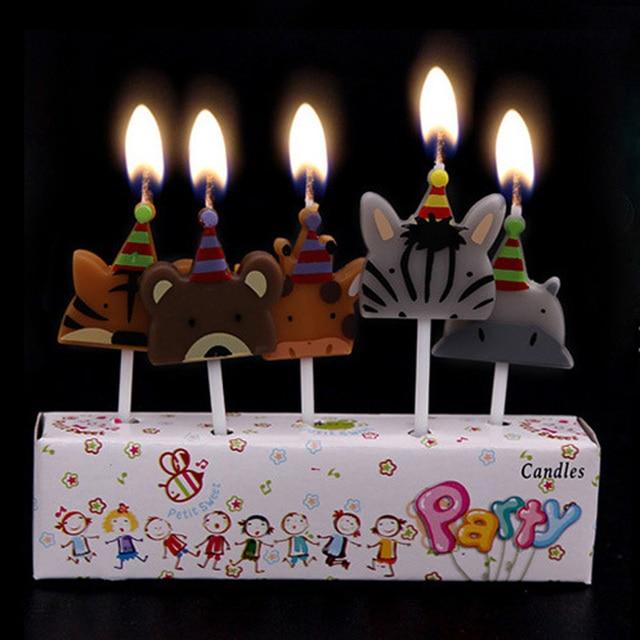 10 cm creative non smoking cartoon candle baby birthday party cake