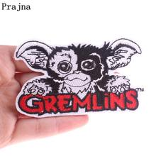 Prajna Gremlins GIZMO Character Patches For Clothing Embroidered Iron On Clothes Applique DIY Cartoon Patch Kids