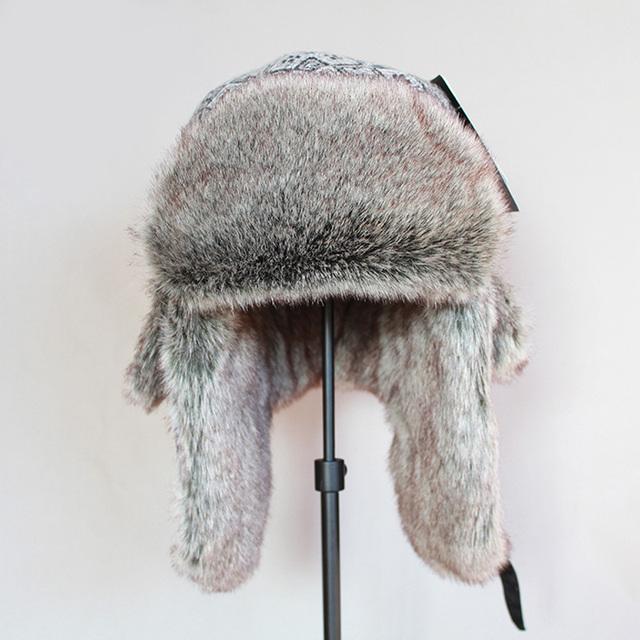 ZDFURS *High Quality  Bomber Hat Russian Army Trooper Aviator Winter Hat Ushanka Green Warm Cap Ear flaps Bomber lei feng Cap