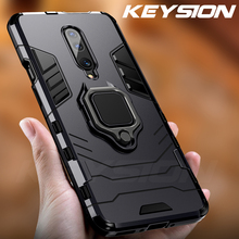 KEYSION Shockproof Armor Phone Case For Oneplus 7 Pro 1+6T Case Finger Ring Car Holder Back Cover For One plus 7 pro 7 6t