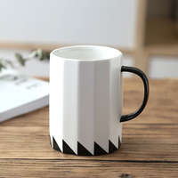 16OZ Ceramic Tea Cup Large White Coffee Mug Cool Personalized Mugs With Handle Big Porcelain Cup