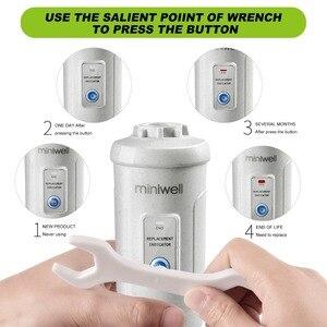 Image 5 - Miniwell Cứng Đầu Vòi Tắm Hoa Sen Lọc Nước Lọc Clo Để Loại Bỏ Clo Trong Phòng Tắm