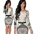 Hot Summer Fashion Slim Mini 3D Graphic Dresses Kim Kardashian Love Sexy Club Woman Lady Long Sleeve Dress