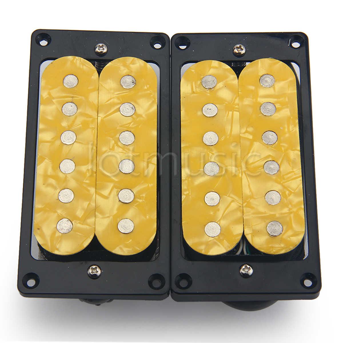 Doppelspule Humbucker Pickup Neck /& Bridge Pickup für E Gitarre