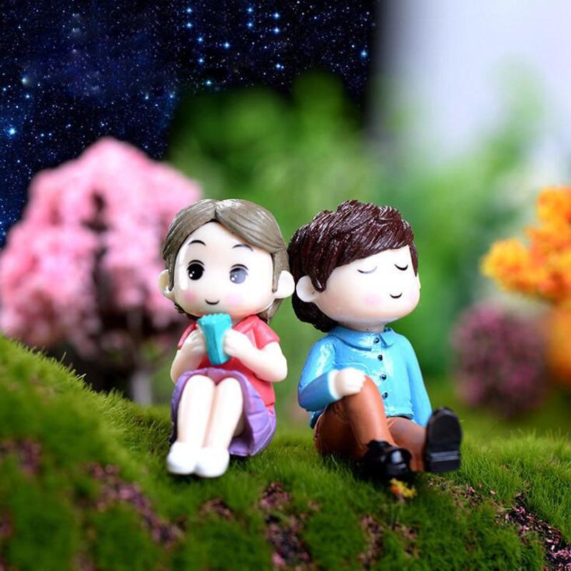 Garden Décor Objective 4pcs Micro Landscape Ornaments Creative Crafts Mini Cartoon Girls Garden Decor