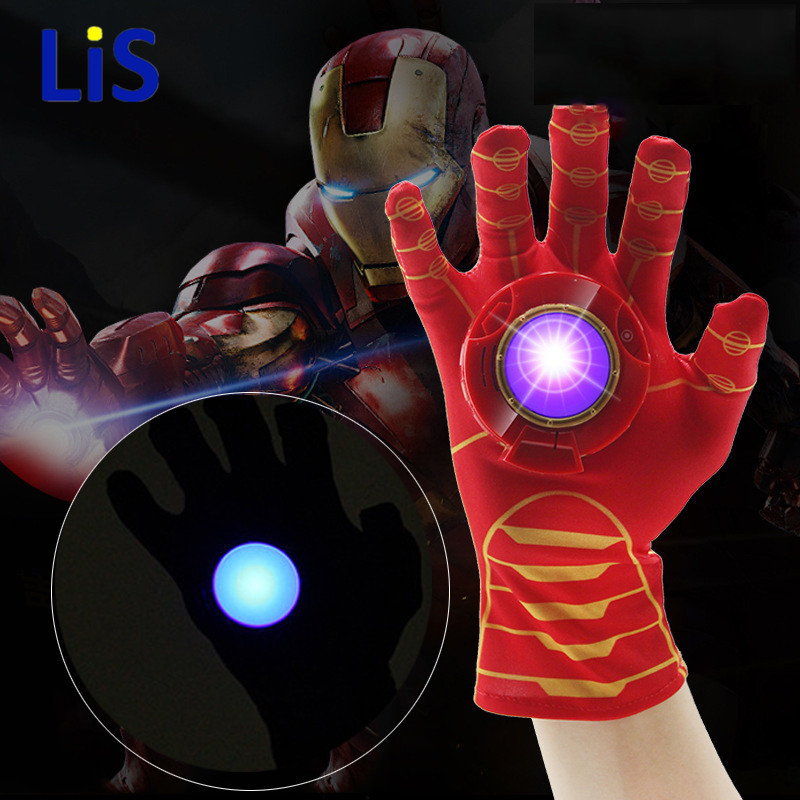 The Avengers Iron Man Glove Action Figure Launchers Suitable Spiderman Costume with Music and LED Light Ironman Kids Toys hoco mini bluetooth earphone with microphone wireless headset for phone invisible earpiece music in ear hook handsfree for car