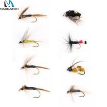 Maximumcatch 24 pcs fly fishing lure with box fishing flies hook combo/set
