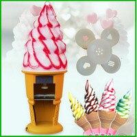 Libérez le bateau en gros De Bureau petite crème glacée dure façonner froming machine crème glacée appuyant sur maker rouleau fantaisie machine à crème glacée