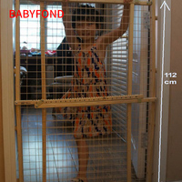 Beightening plus size punch wood dog guardrail iron wire net gate baby child pet stair
