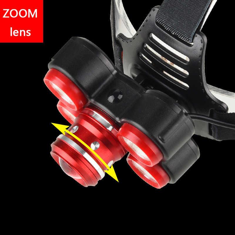 Litwod Z20 XM-L T6 LEVOU farol recarregável 18650 10000LM lente Zoom cabeça da lâmpada cabeça da Tocha lanterna Para camping