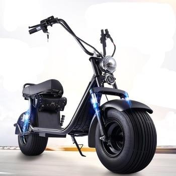 Citycoco-patinete eléctrico de 1500W, 2000W, 12Ah, 20Ah, batería de litio, asientos dobles, rueda de 10 pulgadas