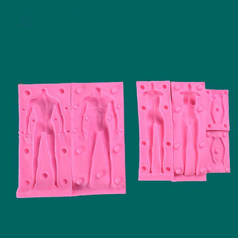 2pcs Man Woman body silicone resin mold originality making jewelry pendant  accessories stereoscopic epoxy mold keychain gift