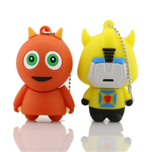 USB Flash Drive 64GB Pen Drive 32GB 16GB 8GB 4GB Lovely Cartoon PenDrive Robot Flash Drive Personalized USB Stick Gift