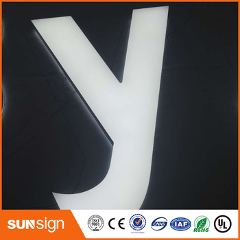 Acrylic Frontlit and backlit sign letters