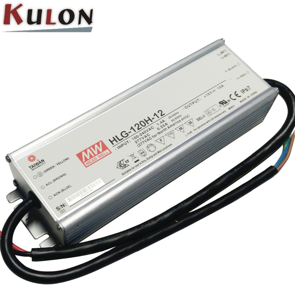 цена на Original MEAN WELL HLG-120H-C700A adjustable LED Power Supply waterproof 150W 107-215V 700mA 7 years Warranty