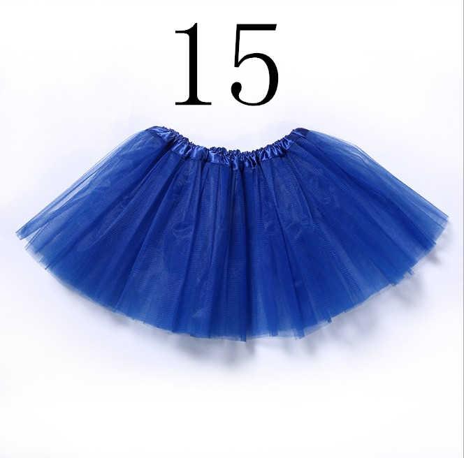 30 センチメートルショート透明ブルー、ピンク赤バレエペチコートチュールスカート女の子弾性 3 層の子チュチュスカートアンスコロカビリー