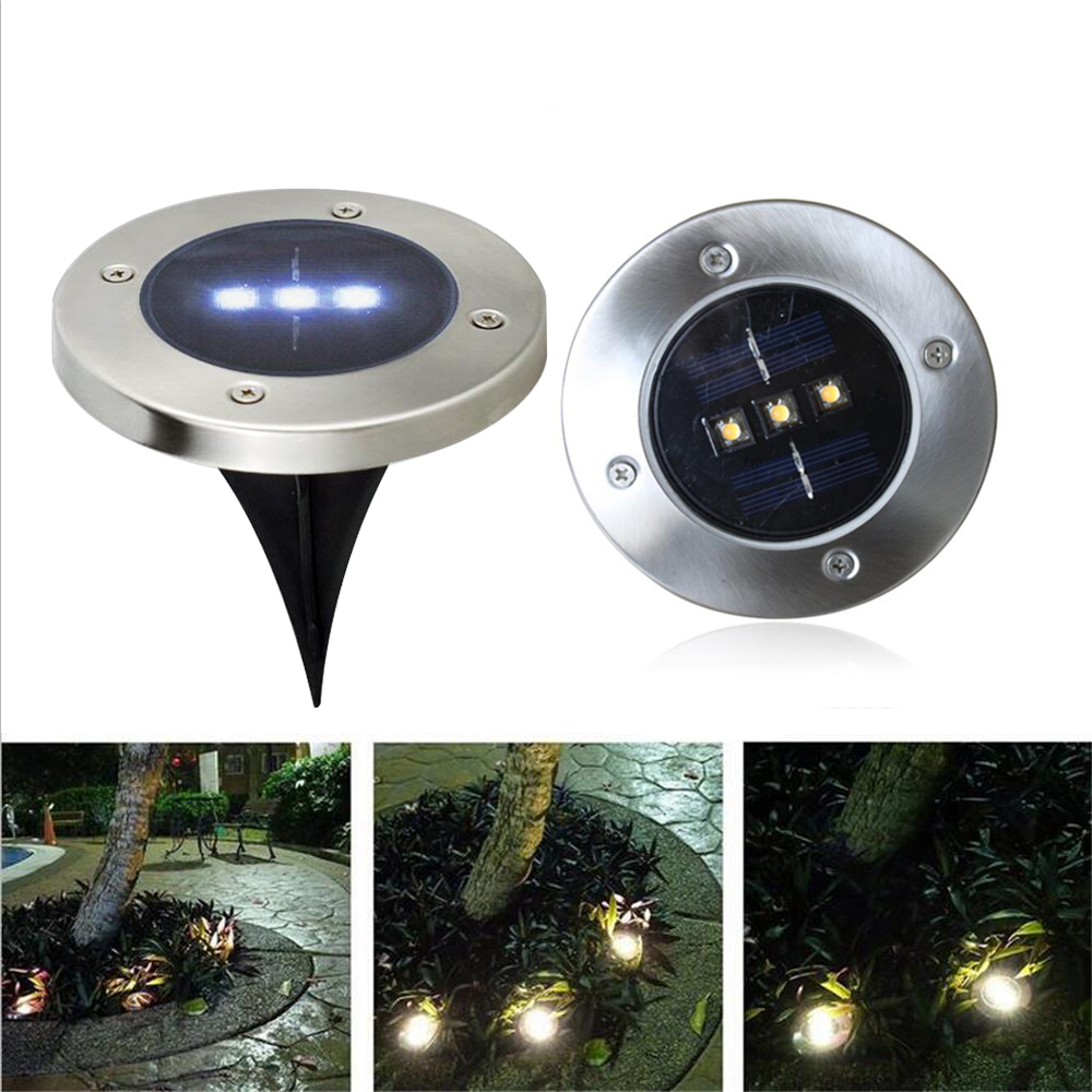 Outdoor Solar Ground Light Garden Led Underground Lawn Lamp Solar Power Pathway Light Led Lights For Home Courtyard Patio Decor Lights & Lighting
