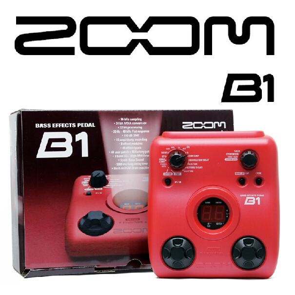 Zoom B1 Bass Multi Effects Pedal
