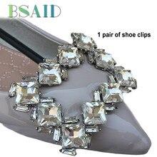 bbd999e4fd710 أساس 1 زوج مشابك للأحذية الديكور الرجعية حجر الراين دبوس كليب زينة حذاء  للأحذية النساء سحر الأزياء كريستال اكسسوارات