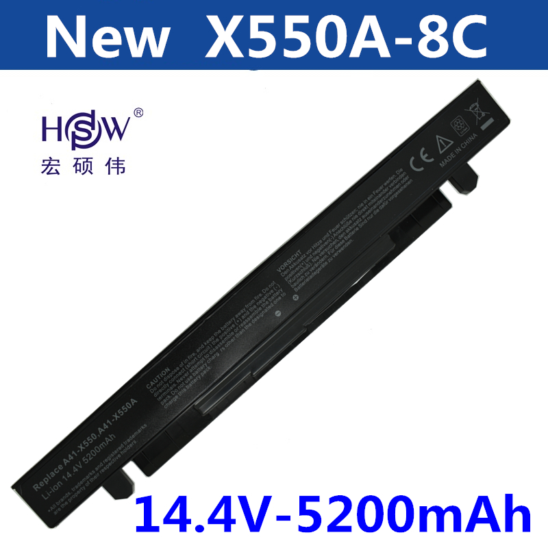 HSW Laptop Battery for ASUS A41 X550 A41 X550A A450 battery for laptop  A550 F450 F550 F552 K450 P450 P550 R409 R510 X450 X452C|laptop battery|battery for asus|laptop battery for asus - title=