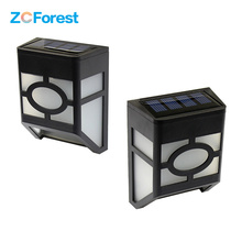 2pcs/lot Outdoor Led Solar Lights Waterproof Garden Lawn Decoration Fence Path Road 2leds Solar Power Lamp Wall Mount Warm White