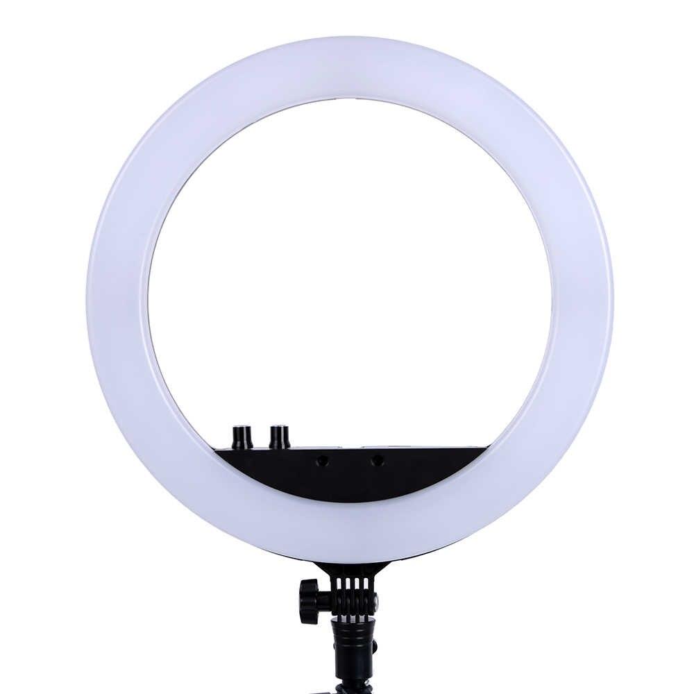 14 Polegada iluminação do estúdio da foto conduziu a luz do anel 336 pces lâmpadas conduzidas 3200-5600k fotografia lâmpada do anel regulável para o vídeo, composição