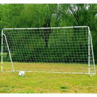 365x182x120CM Steel Tube Soccer Goal Training Set White