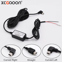 XCGaoon DC 12V to 5V 2A 3.5M Car Charger Cable Mini USB Hardwire Charger Cord Auto Charging for Dash Cam Camcorder Vehicle DVR(China)