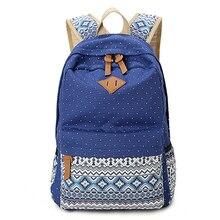 Модные Стиль горошек Для женщин рюкзак ранцы школьные для девочек подростков Повседневное Дорожные сумки Рюкзаки милые печати детей