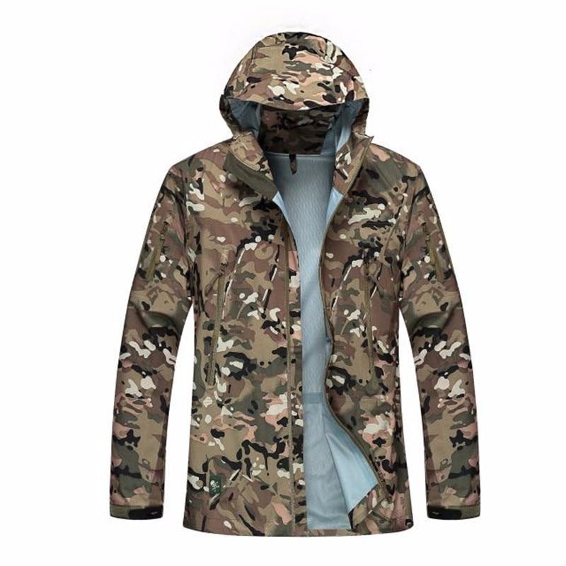 respirável camo casaco homens escalada treinamento do exército roupas de combate